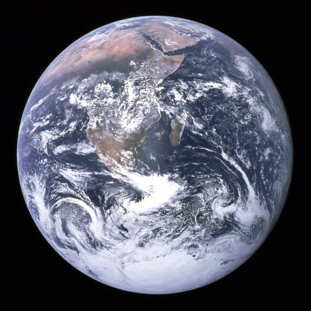 First full photograph of the Earth, image courtesy NASA